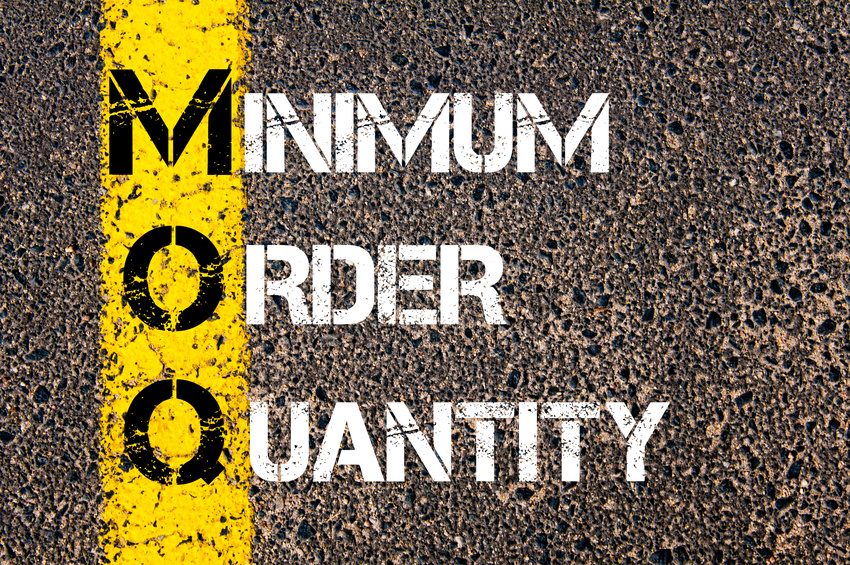 MOQ - Minimum Order Quantity