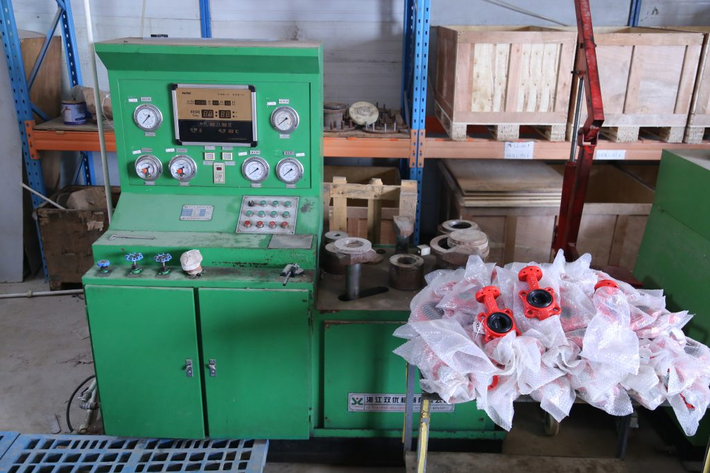 Vertical hydraulic pressure test, (up to 40 bar)