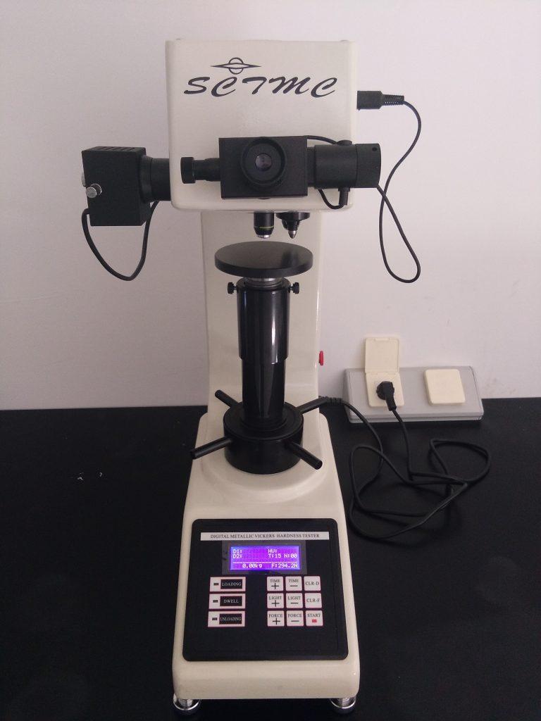 Control de calidad de materiales con Test dureza Vickers